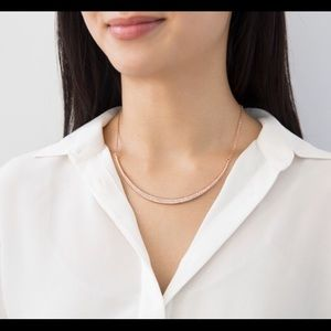 C+I Sparkling Rosé Collar Necklace